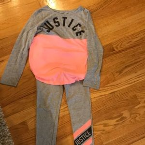 Girls 2 piece Justice  outfit